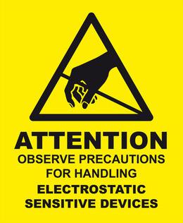 Anti-Static Warning Label